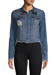 Candc California Frayed Denim Jacket Medium Wash