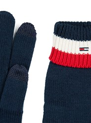 Topman Blue Hilfiger Denim Navy White And Red Stripe Knitted Gloves