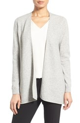 Nordstrom Women's Collection Cashmere Waterfall Cardigan Grey Light Heather