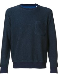 Blue Blue Japan Chest Pocket Sweatshirt Blue