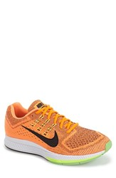 Men's Nike 'Zoom Structure 18' Running Shoe Total Orange Voltage Black