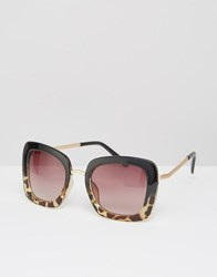 Missguided Tortoiseshell Oversized Sunglasses Brown
