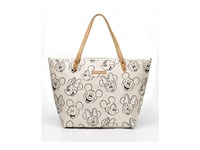 Petunia Pickle Bottom Glazed Downtown Tote Sketchbook Mickey Minnie Tote Handbags Beige