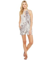 Brigitte Bailey Lilas Sleeveless Keyhole Romper Grey Women's Jumpsuit And Rompers One Piece Gray