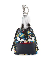 Fendi Confetti Print Backpack Shaped Charm For Bag Briefcase Multi Colors