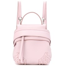 Tod's Wave Mini Leather Backpack Pink