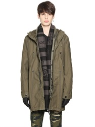 Diesel Military Canvas Parka And Padded Jacket