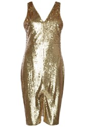 Alice And You Sequin Midi Dress Gold