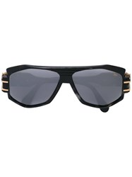 Cazal Geometric Frame Sunglasses Black