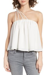 Women's Bp. Strappy One Shoulder Tank Ivory Egret