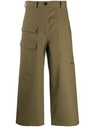 Sofie D'hoore Cropped Wide Leg Trousers Green