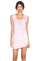 Lna Double Layer Tank Dress Pink