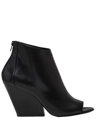 Strategia 80Mm Leather Open Toe Boots