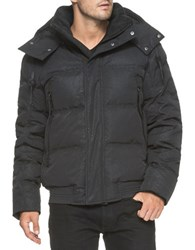 Andrew Marc New York Summit Down Filled Bomber Jacket Black