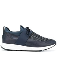 Alexander Smith Woven Detail Sneakers Blue