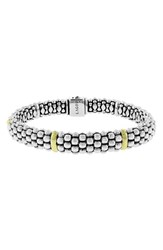 Women's Lagos Caviar Rope Bracelet Silver Gold