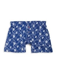 Tommy Bahama Floral Knit Boxers Navy