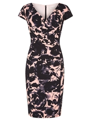 Planet Printed Dress Peach