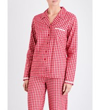 Calvin Klein Check Print Cotton Flannel Pyjama Top Nn3 Transformation Check