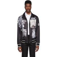 Dolce And Gabbana Black Collage Zip Up Sweater