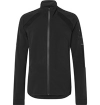 Adidas Sport Ultra Energy Run Stretch Jersey Panelled Ripstop Jacket Black