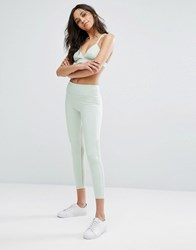 Abercrombie And Fitch Legging With Mesh Panel Mint Green Black