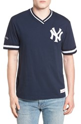 Mitchell And Ness Men's New York Yankees Vintage V Neck T Shirt