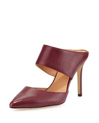 Isabella Leather Pointed Toe Mule Burgundy Halston Heritage Red
