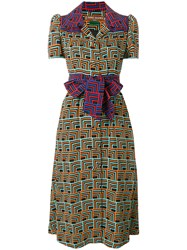 Duro Olowu Geometric Print Shirt Dress Multicolour