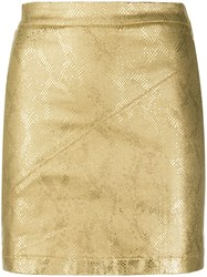 Patrizia Pepe Metallic Effect Mini Skirt 60