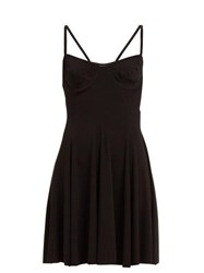 Norma Kamali Underwire Stretch Jersey Mini Dress Black
