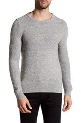 Gant Corded Knit Sweater Gray