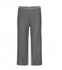 M. Patmos Cropped Wool Trousers Grey