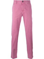 Jacob Cohen Academy Straight Leg Chinos Pink And Purple