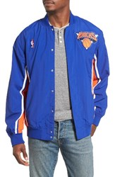 Mitchell And Ness Men's New York Knicks Tailored Fit Warm Up Jacket