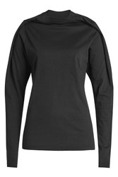 Y Project Cotton Top With High Neck Black