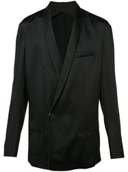 Haider Ackermann Shawl Lapel Crossed Blazer Black