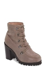 Seychelles Women's Theater Lace Up Bootie Taupe Suede