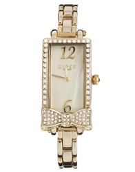 Lipsy Gold Tone Bracelet Watch With Bow Detailing