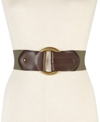 Inc International Concepts Hook Front Stretch Belt Only At Macy's Olive