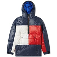 Tommy Jeans Popover Flag Puffer Jacket Blue