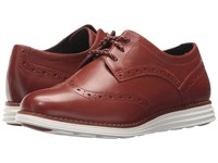 Cole Haan Original Grand Wingtip Brandy Brown Suede Optic White Women's Lace Up Wing Tip Shoes