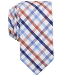 Bar Iii Men's Rust Multi Color Check Slim Tie Only At Macy's