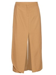 Sies Marjan Technical Twill Midi Skirt Beige