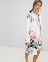 Ted Baker Arnot Coat In Palace Gardens Print Multi