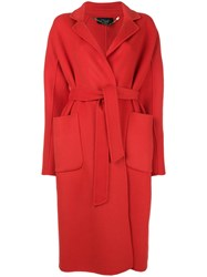 Clips Oversized Fitted Coat Red