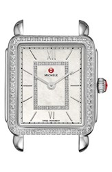 Michele Women's 'Deco Ii' Diamond Dial Watch Case 26Mm X 28Mm Nordstrom Exclusive
