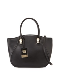 Class Roberto Cavalli Daphne Small Leather Tote Bag Black