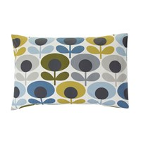 Orla Kiely Multi Flower Oval Pillowcases Set Of 2 Marine