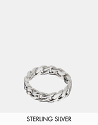 Seven London Chain Ring In Sterling Silver Silver